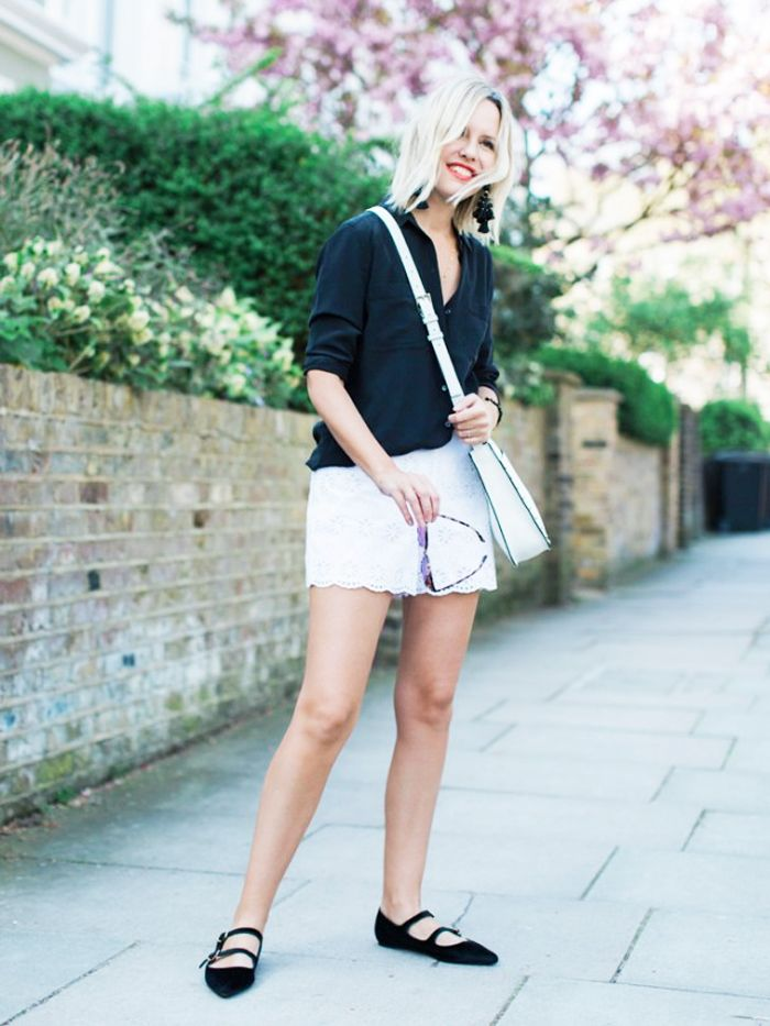 How to Wear Flat Shoes: T-bar flats