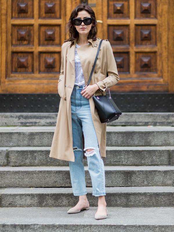 How to Wear Flat Shoes: tonal flats