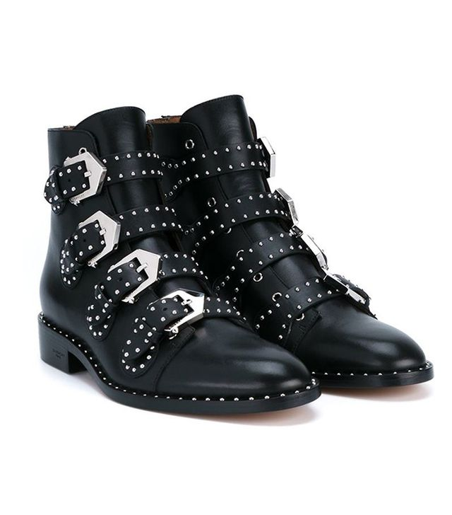 Givenchy Prue Leather Biker Boots