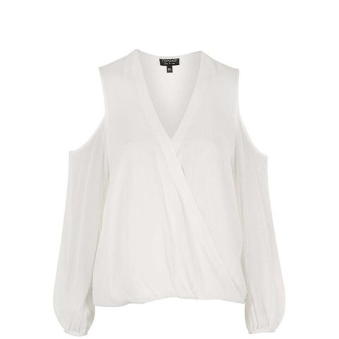 Long Sleeve Cold Shoulder Blouse