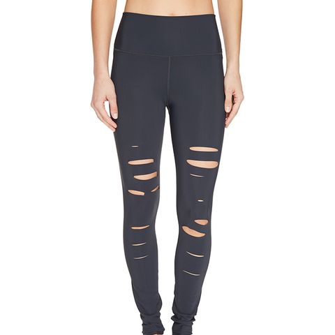 Ripped Warrior Leggings in Anthracite
