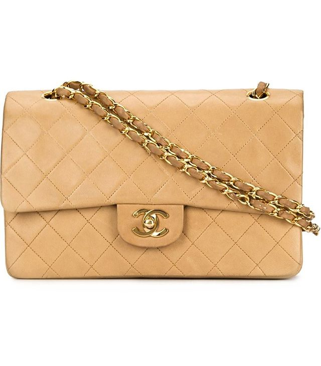 Chanel Vintage Medium Double Flap Shoulder Bag
