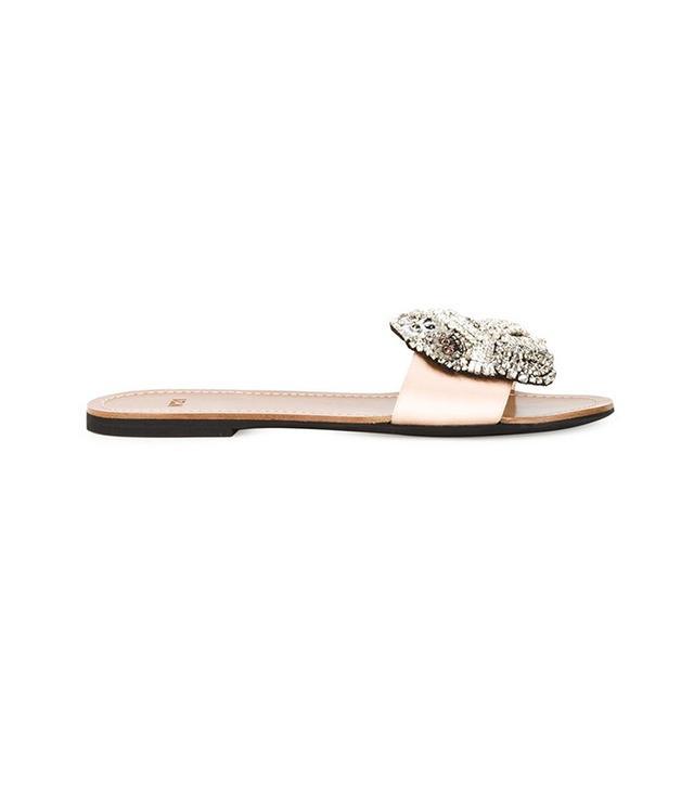 N 21 Rhinestone Embellished Sliders ($