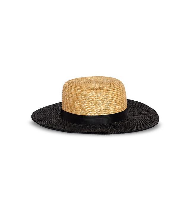 Who What Wear Women's Straw Boater Hat