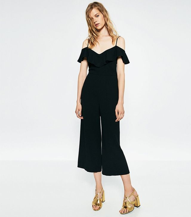 Zara Cropped Jumpsuit With Straps