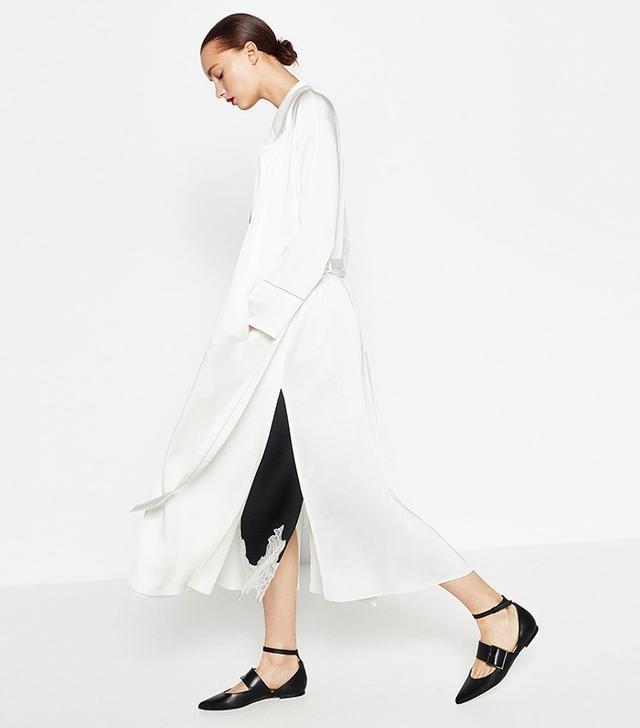 Zara Studio White Trench