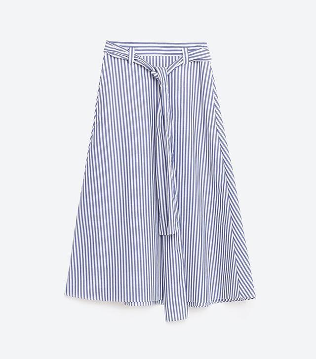 Zara Studio Striped Skirt