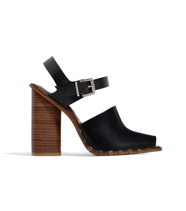 Zara Leather Studded Clogs