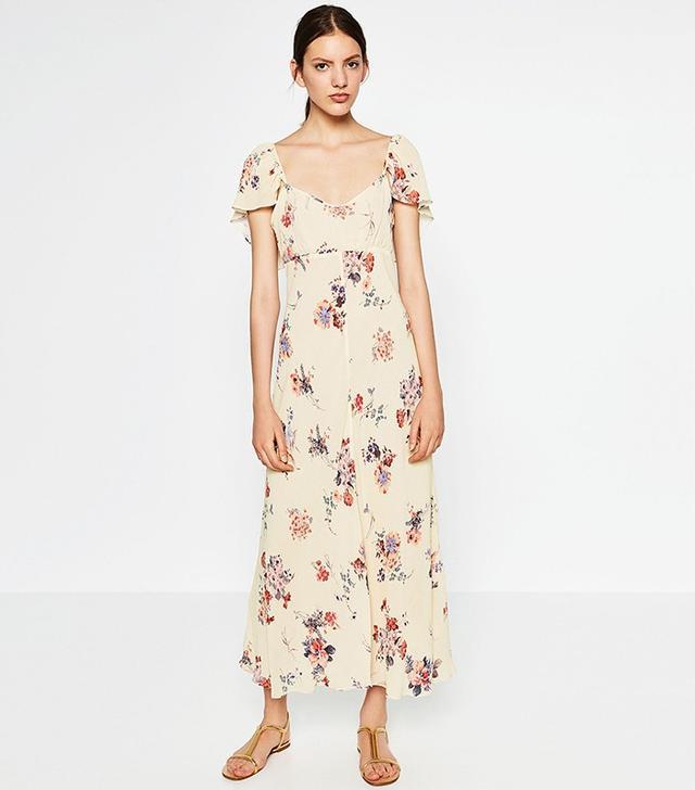 Zara Printed Studio Dress