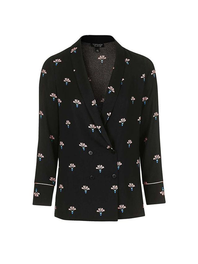 Topshop Printed Soft Tailored Blazer
