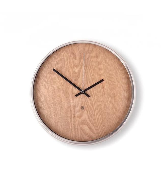 West Elm Umbra Madera Wall Clock