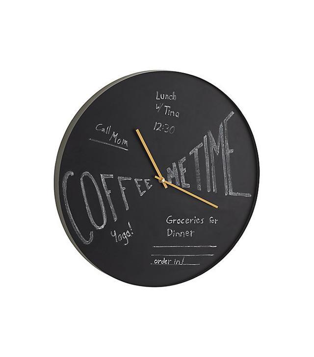 Crate & Barrel Tick-Chalk Clock