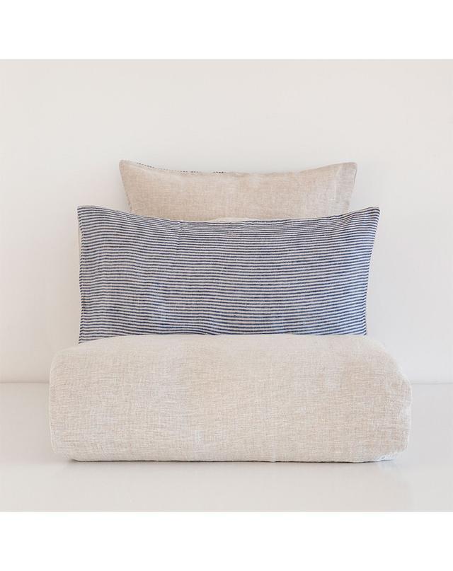 Zara Two-Toned Dyed Thread Stripe Linen Bed Linen