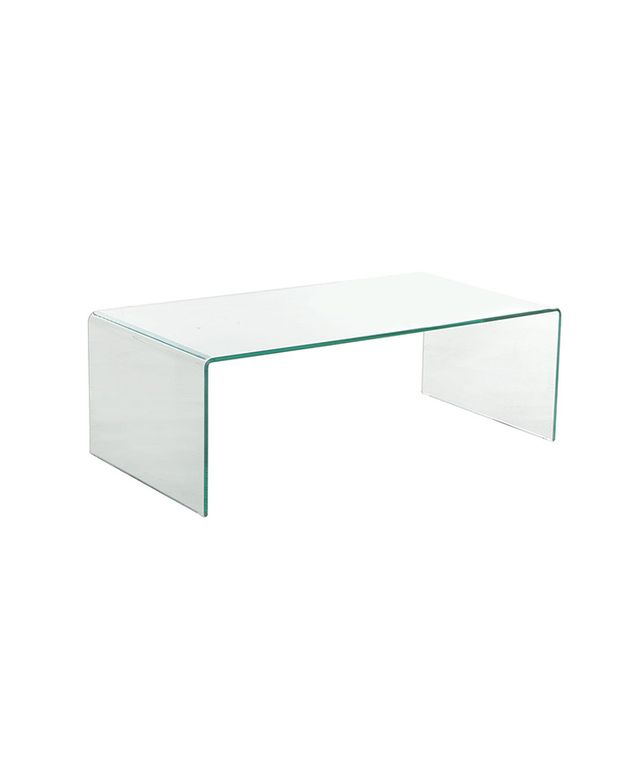 Temple & Webster Aqua Glass Coffee Table