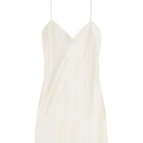 Silk-Satin Slip Dress
