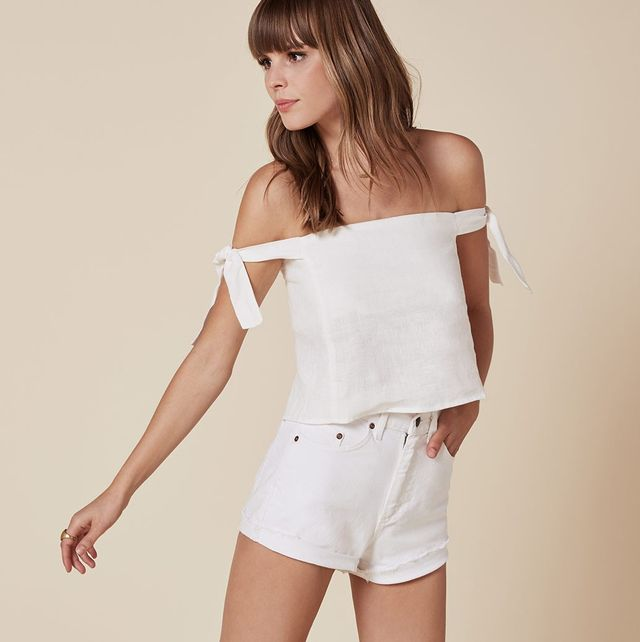 Reformation Amalia Top in White