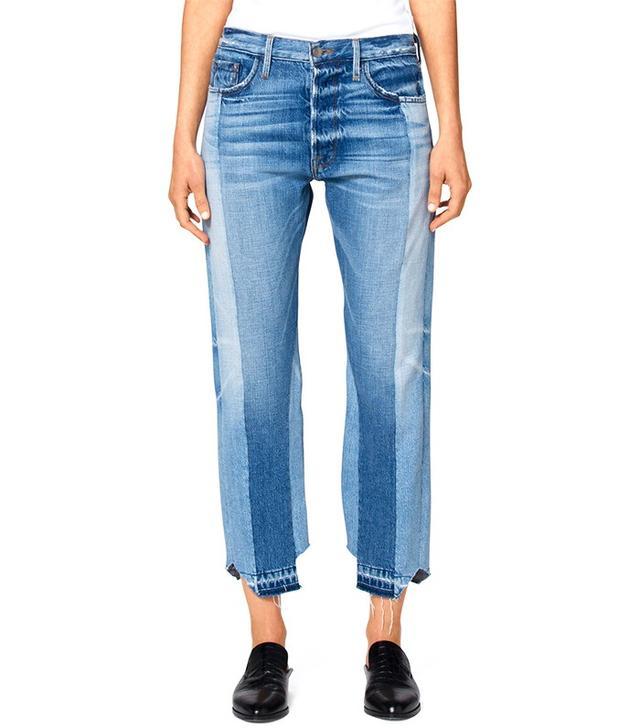 Frame Remade Uneven Hem Jeans