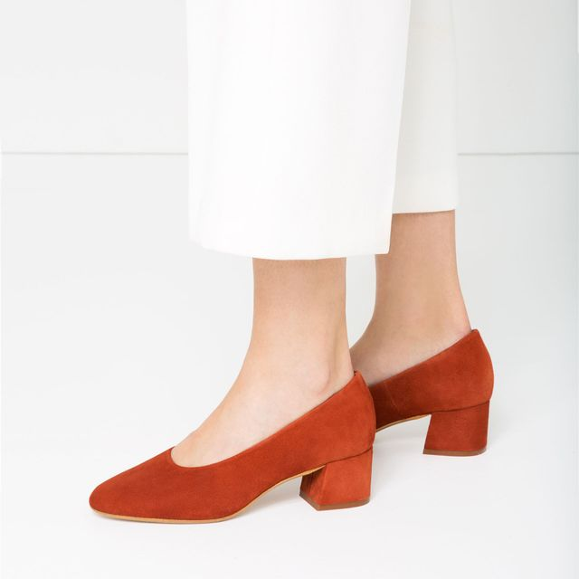 Zara Suede Ballerinas With Heel