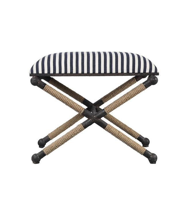 Shanna Shryne Design Nautical Striped Bench