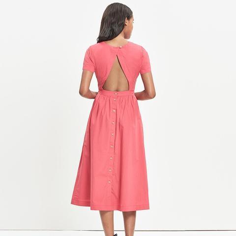 Open-Back Midi Dress
