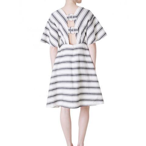 Ariel Stripe Cape Sleeve Dress
