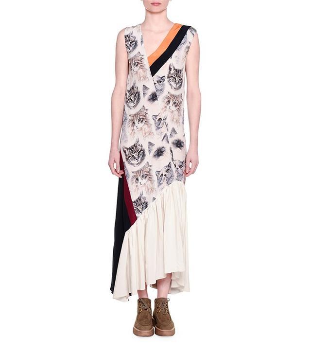 Stella McCartney Cat-Print Sleeveless Maxi Dress