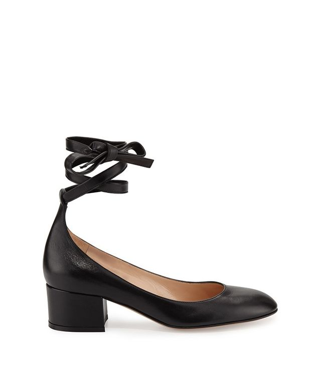 Gianvito Rossi Leather Ankle-Wrap 40mm Pump