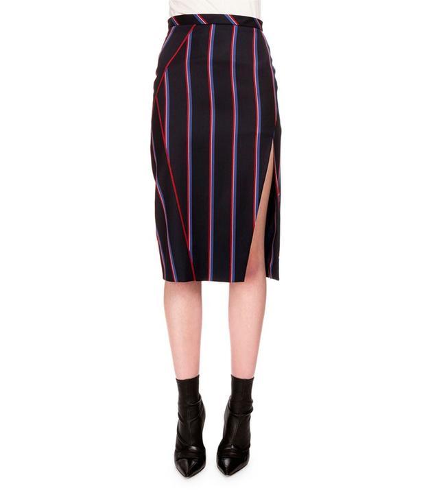 Altuzarra Monroe Striped Side-Slit Pencil Skirt