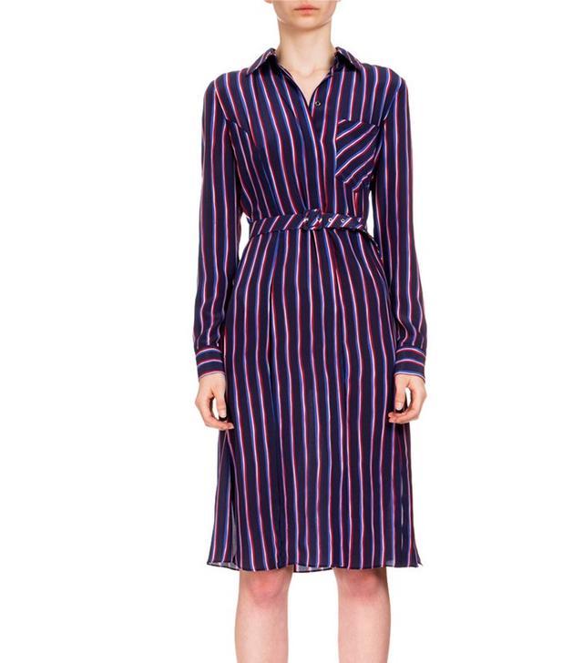 Altuzarra Marian Striped Silk Shirtdress