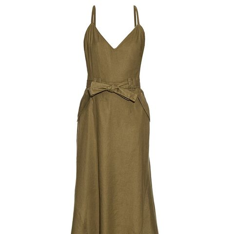 Frank V-Neck Twill Dress