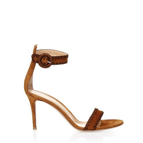 Antigua Contrast-Stitch Suede Sandals
