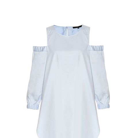 Cut-Out Shoulder Cotton Tunic