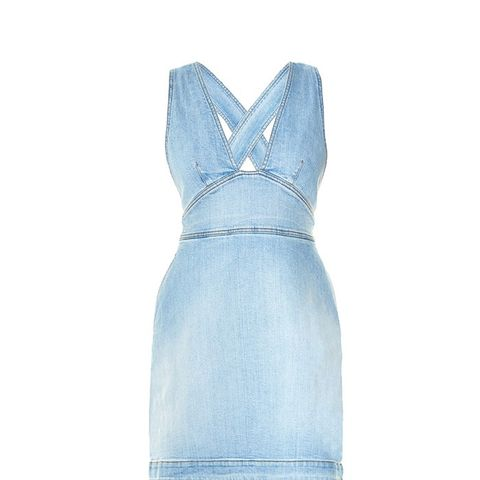 Anne Cross-Back Denim Dress