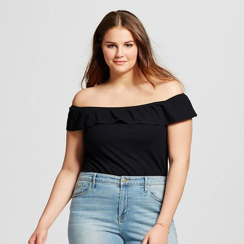 Plus Size Bardot Bodysuit