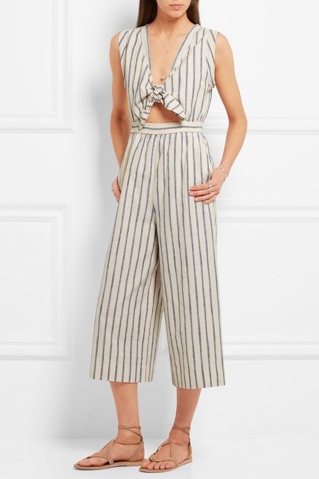 Madewell Tie-Front Cutout Linen