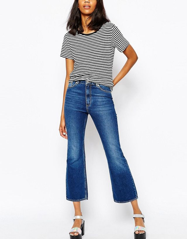Monki Cropped Flare Jeans