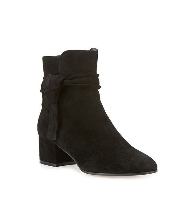 Gianvito Rossi Suede Side-Tie 45mm Ankle Boot
