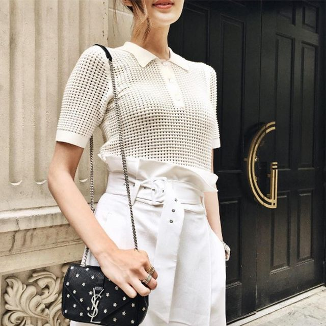 Bloggers Can't Stop Instagramming This Shirt Trend
