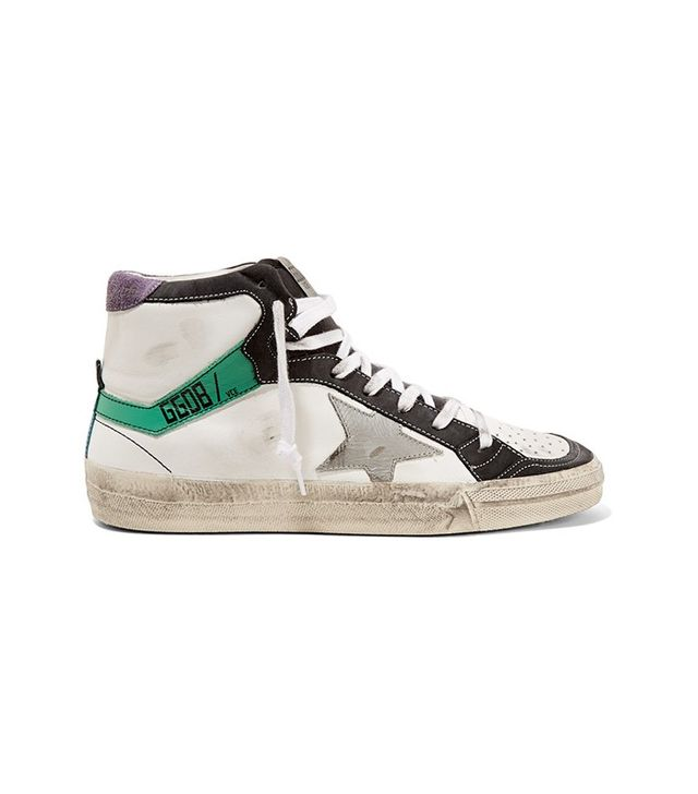 Golden Goose Deluxe Brand Suede Trimmed Leather Sneakers