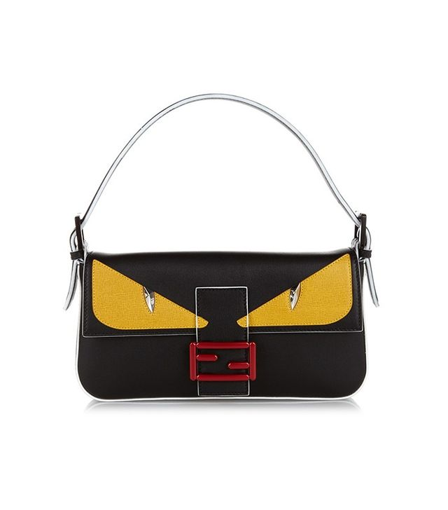 Fendi Baguette Bag Bugs Leather Shoulder Bag
