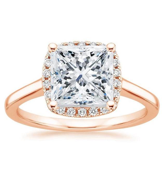 Brilliant Earth French Halo Diamond Ring