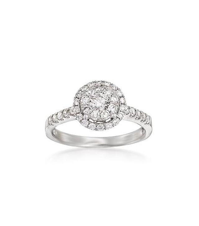 Ross Simons Diamond Illusion Halo Ring