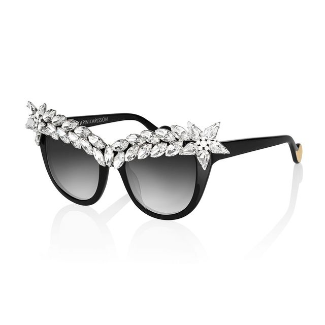 Anna-Karin Karlsson Decadence Crystal-Brow Sunglasses