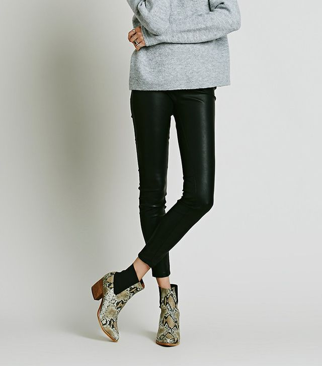 Free People Vegan Leather Pull-On Leggings