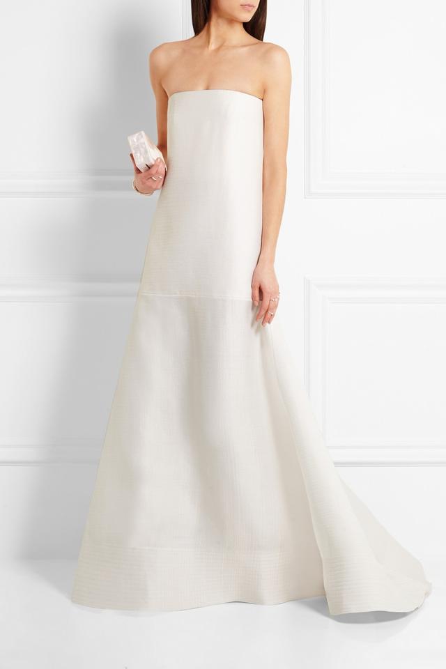 Roksanda Maury Drop-Waist Wool and Silk-Blend Gown
