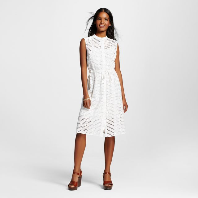 Target Eyelet Drawstring Dress
