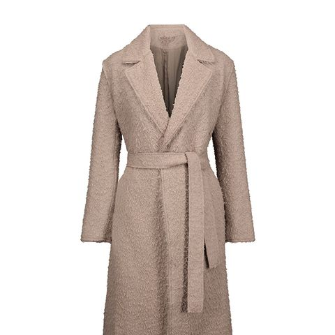 Belted Bouclé Alpaca and Wool-Blend Coat