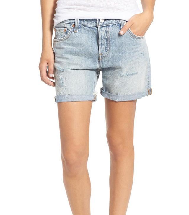 Levi's 501 CT Distressed Denim Shorts