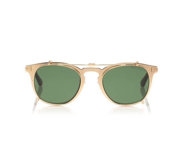 Tom Ford Gold-Plated Sunglasses