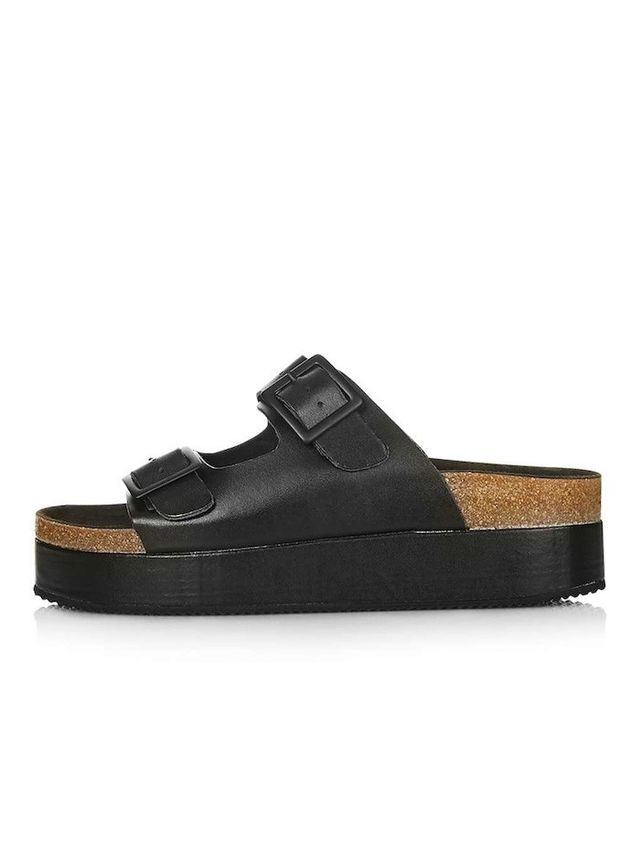 Topshop FANG Double Buckle Flatform